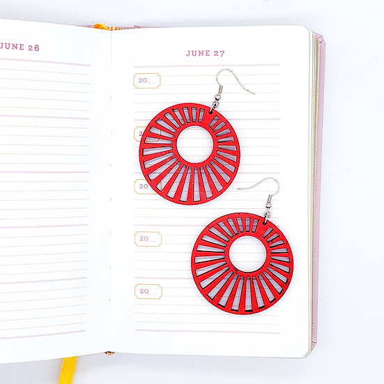 Sunburst Geometric Statement Earrings