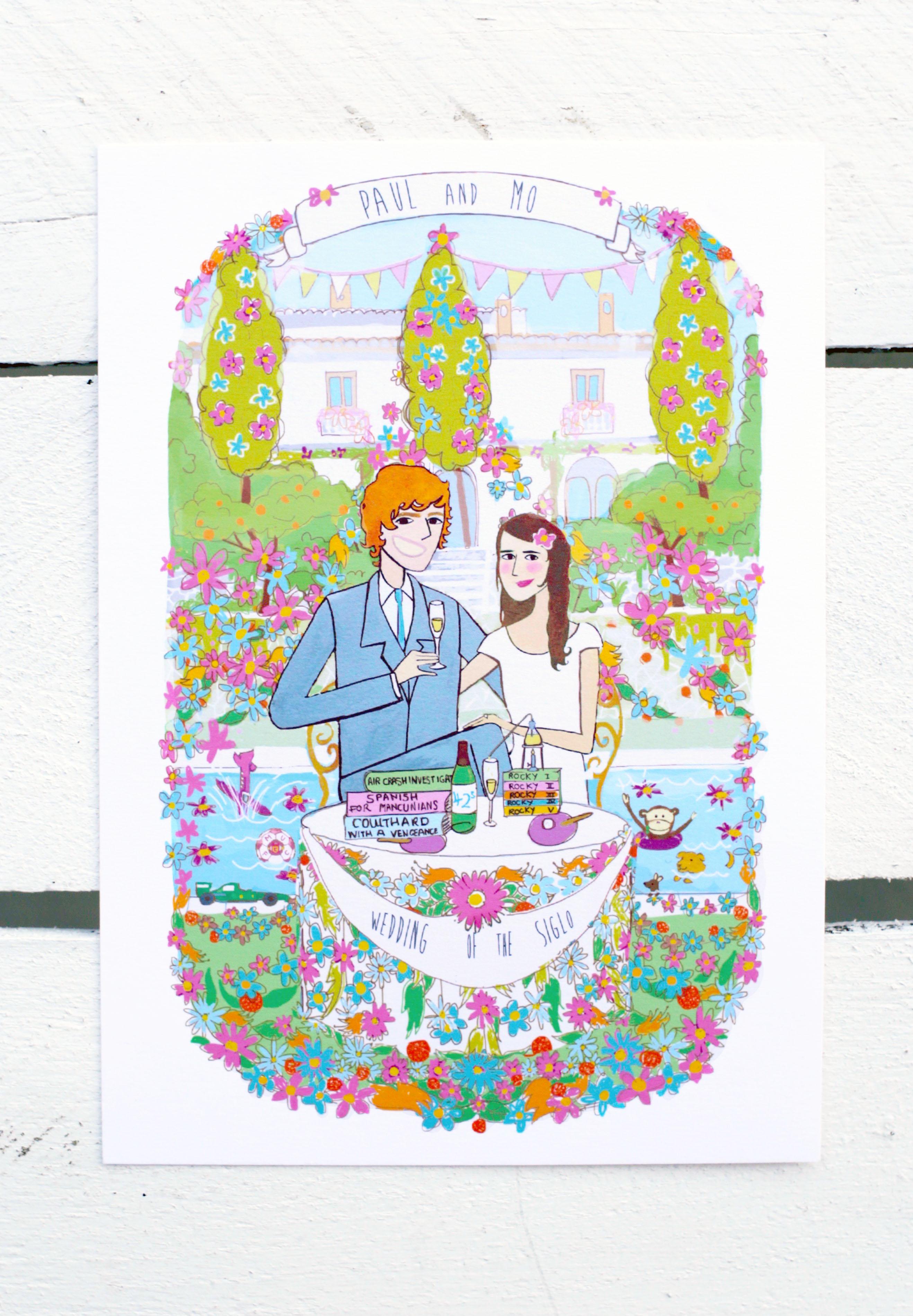 Floral wedding illustration