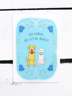 Dog Save the Date design