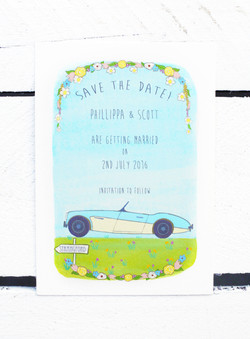 Wedding Car Save the Date