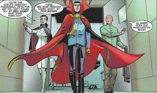 Doutor Estranho, Wong e Enfermeira Noturna - Marvel Comics