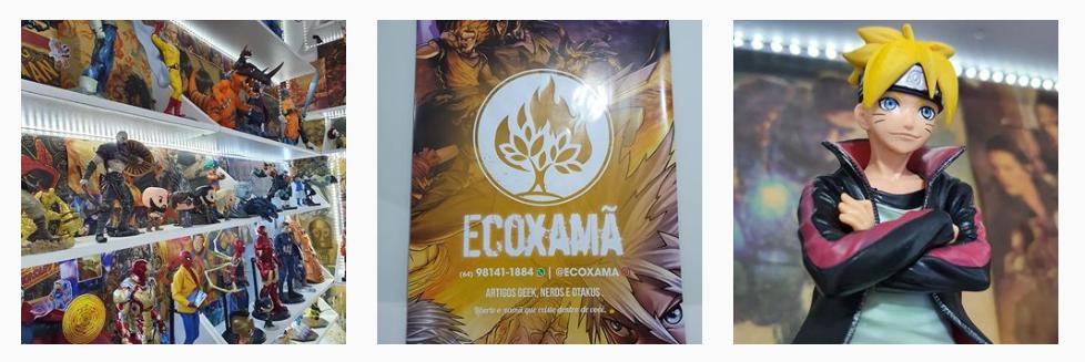 Ecoxamã e uma loja de cultura pop que comercializa produtos com tematica geek, como action figures, quadrinhos e itens para colecionadores.