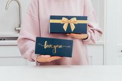 Beautiful brownie gift wrap