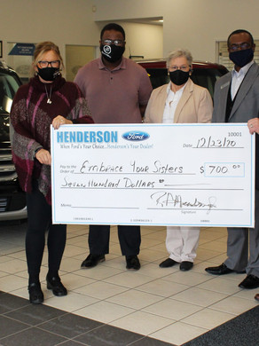 Henderson Ford makes donation to EYS