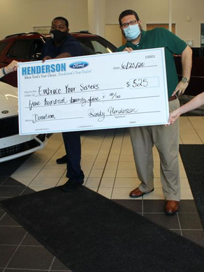 EYS Accepts Donation from Henderson Ford