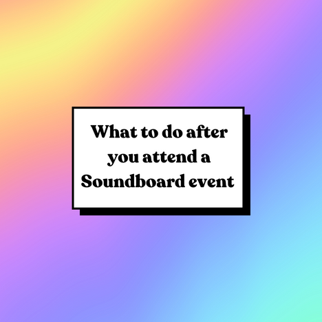 what to do after a soundboard event