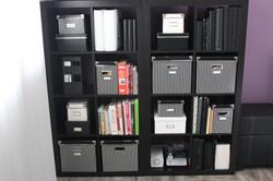 office shelves Artfully Organized