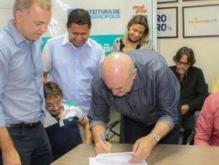 A CASAN e a Prefeitura Municipal de Florianópolis iniciaram, nesta quarta-feira, a construção da Est