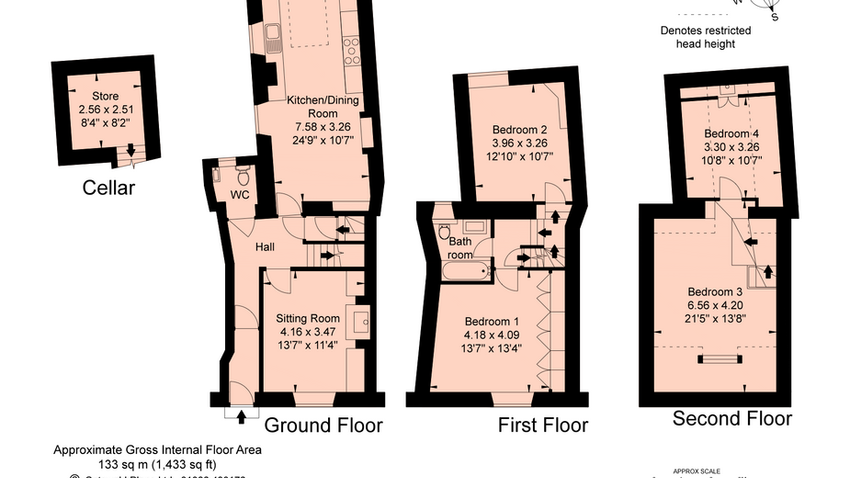 Floor plan at The Crook, Stow-on-the-Wold, Cotswolds Holidays