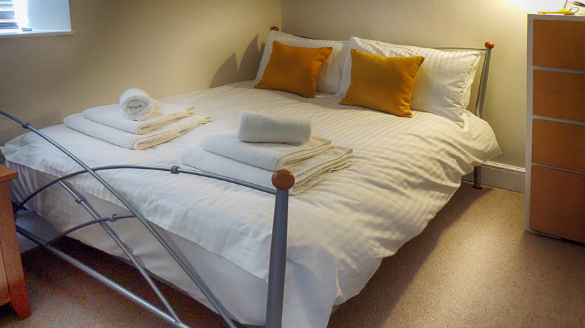 Bedroom at Woodbine Cottage at Bourton-on-the-Water, Cotswolds Holidays