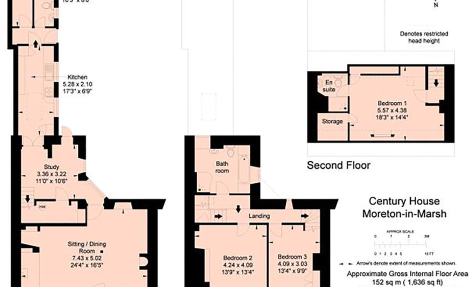 Century House floor plan - Cotswold Holidays
