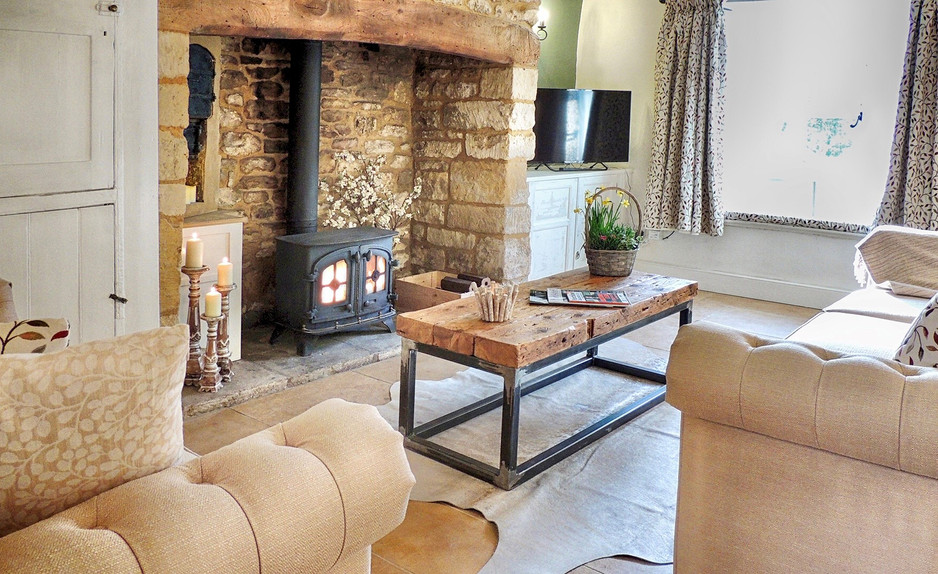 Fireplace at Magnolia Cottage at Moreton-in-the-Marsh, Cotswolds Holidays