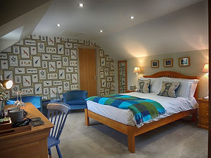 Individually decorated guest rooms.