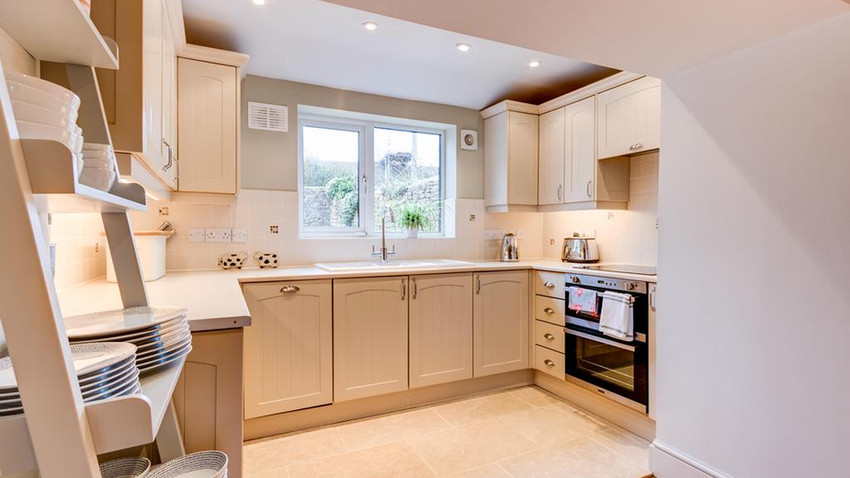 Kitchen at Woodbine Cottage at Bourton-on-the-Water, Cotswolds Holidays