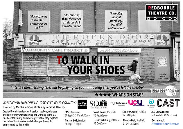 REDBOBBLE'S TOUR of 'To Walk In Your Shoes'