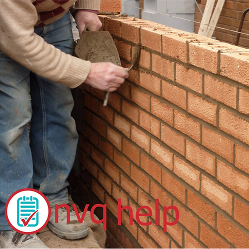 NVQ QCF LEVEL 3 BRICKWORK BRICKLAYING COURSEWORK HELP & ANSWERS