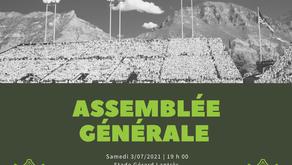 Assemblée Générale - 3 Juillet 2021
