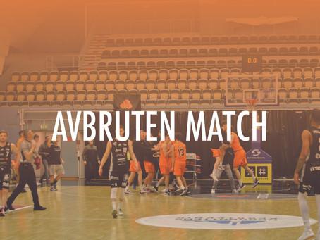 Matchen mellan Umeå och Norrköping avbruten