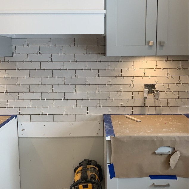 Unit 16 Backsplash Install