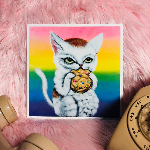 Kitty Cookies Art Print - Limited Edition