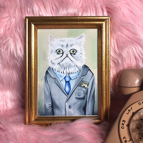 Business Cat Art Print - Limited Edition