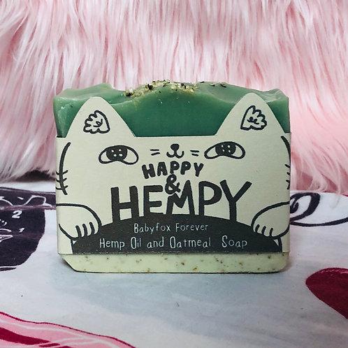 Happy and Hempy Hemp Oil and Oatmeal Scrub Soap