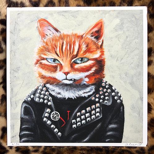 Punk Kitty Art Print