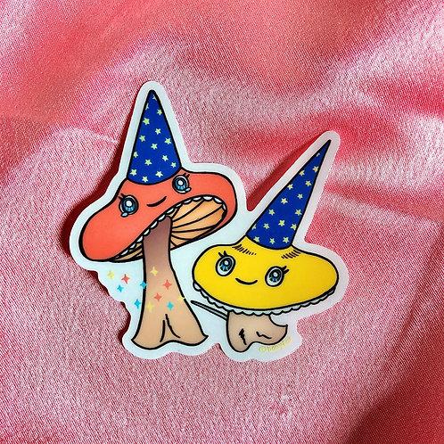 Magic Mushrooms Clear Sticker