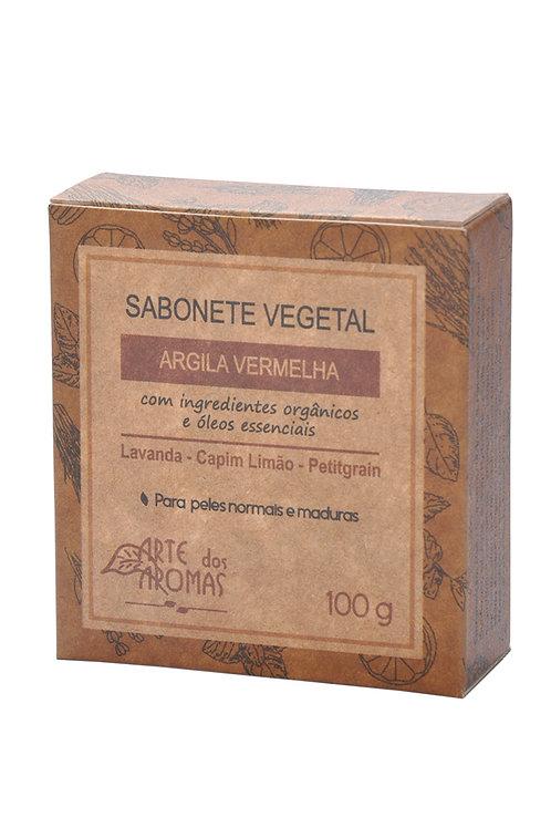 Sabonete Barra Argila Vermelha 100g
