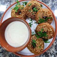 El falafel 😋__#gilly #charleroi #brunch
