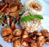 assiette chich taouk