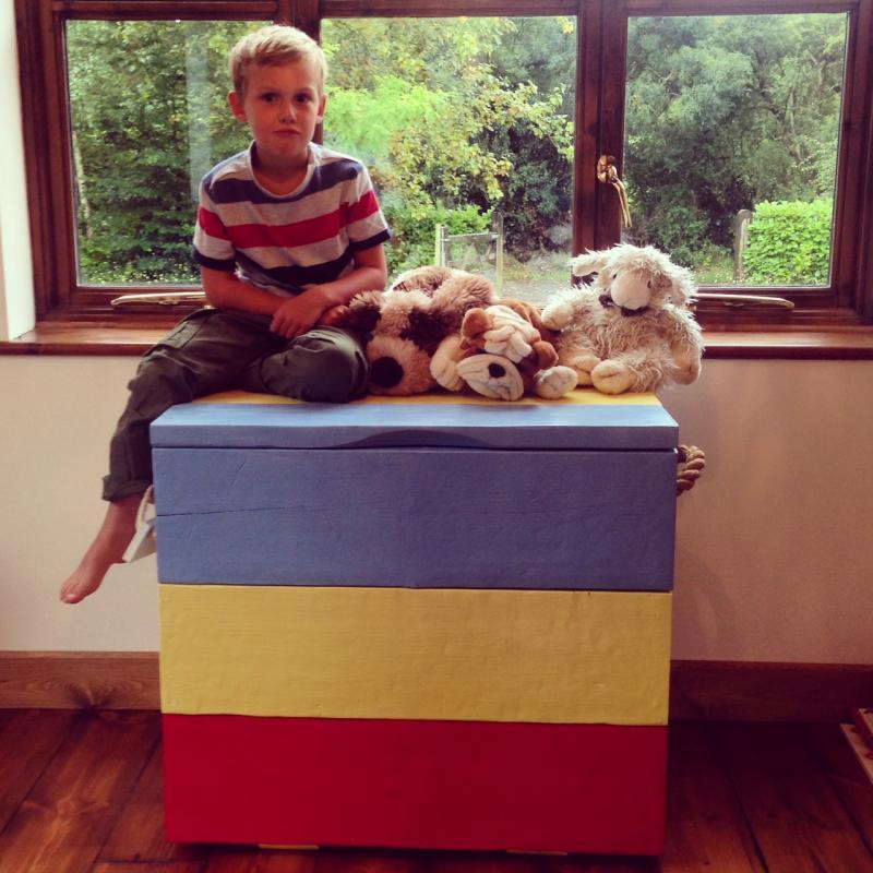 rainbow trunk with finn