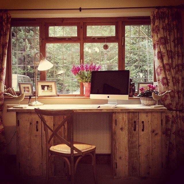 Regram from last year - #bespoke #scaffold desk #interiordesign #office #homeoffice
