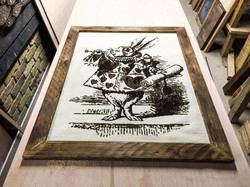 framed white rabbit
