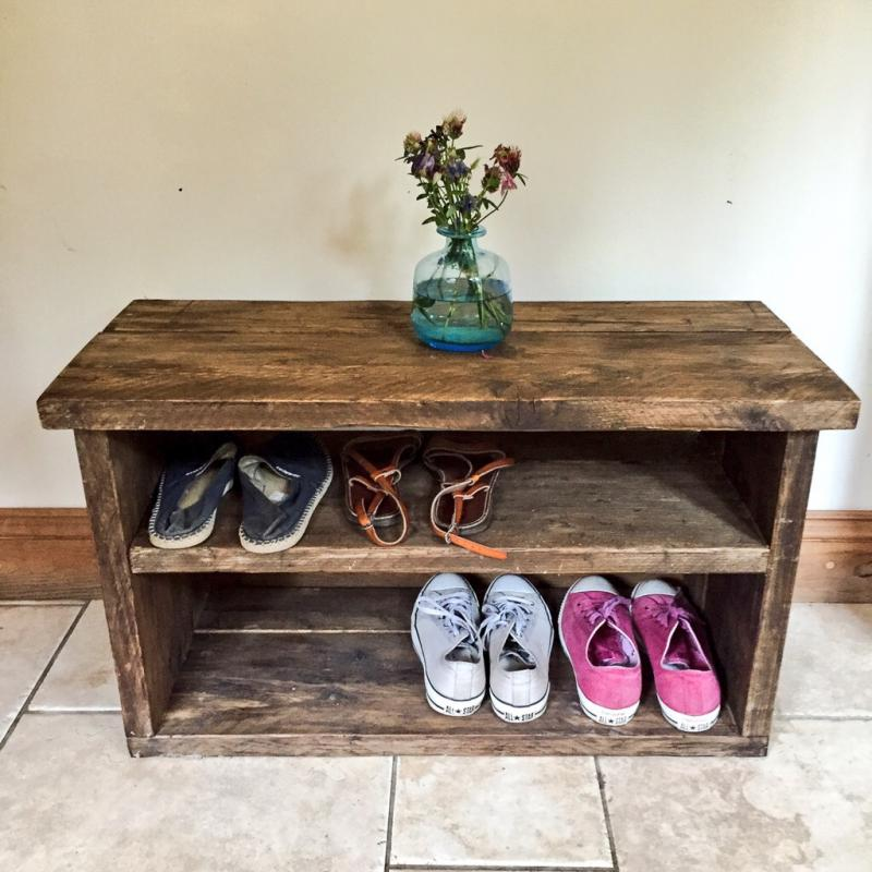 dark wax shoe rack