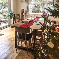 #oak table with tapered legs in its lovely new home #interiordesign #industrialdesign #christmas