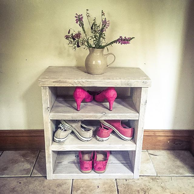 New #bespoke #whitewash #scaffold #shoerack ready for collection #interiordesign #shoes #storage #up