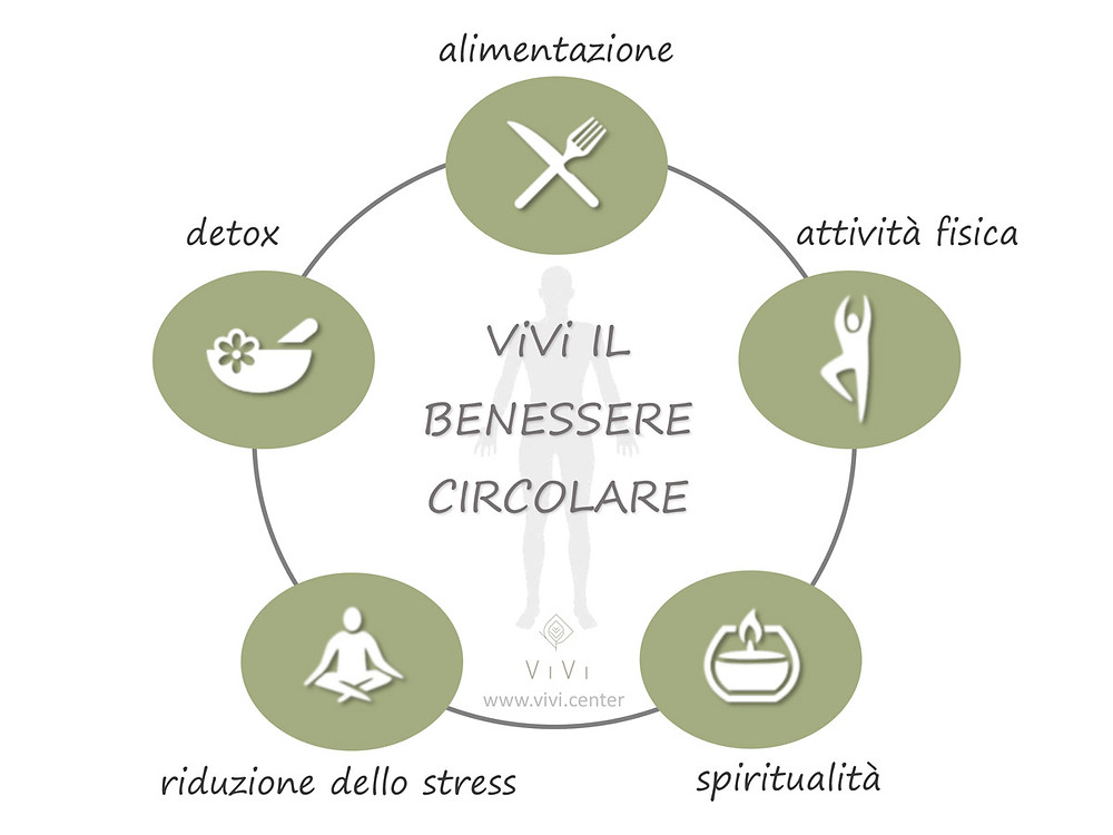 diagramma del benessere circolare