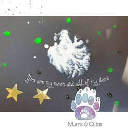 You are my moon, and all of my stars🌚🌛🌜🌟🌠 How cute are these paintings made by our cubs_! Jazak