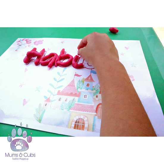 Fairytale themed personalised playdough mat pack