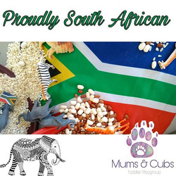 Does it get more South African than samp & beans sensory play___Our cubs had a delicious lesson this