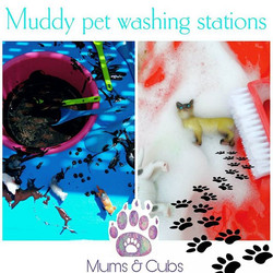 Our cubs had lots of messy fun this week. We covered our pets in mud...jpg