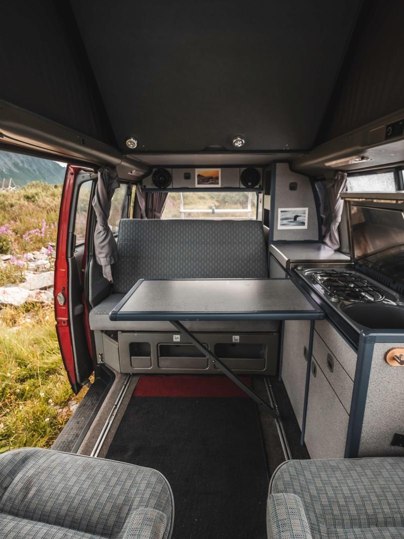 Westfalia camping mode