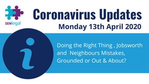 Doing the Right Thing , Jobsworth and Neighbours Mistakes, Grounded or Out & About?