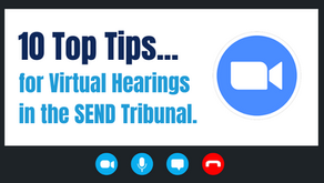 Top tips for Virtual Hearings in the SEND Tribunal.