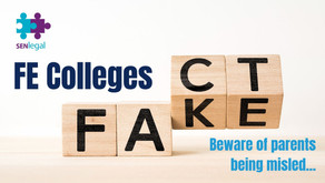 Further Education Colleges - beware of parents being misled...