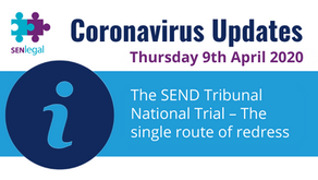 The SEND Tribunal National Trial – The single route of redress.