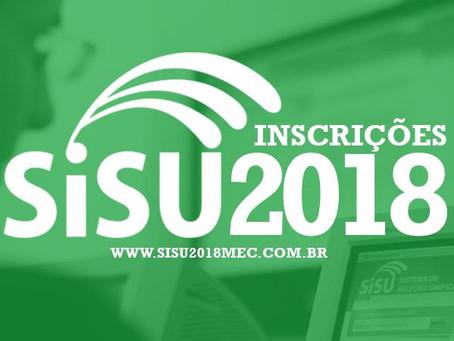 Inscrições para o Sisu 2018/2 estão abertas