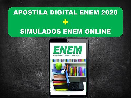 Apostila Digital ENEM 2020 + Simulados Online