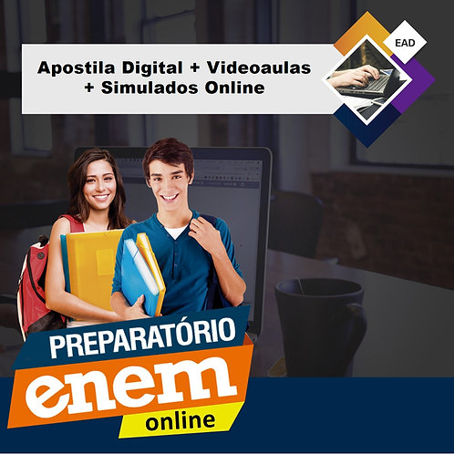 Preparatório Online ENEM 2020 - Apostila Digital + Videoaulas + Simulados Online